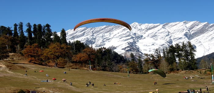 Solang Valley Paragliding activity